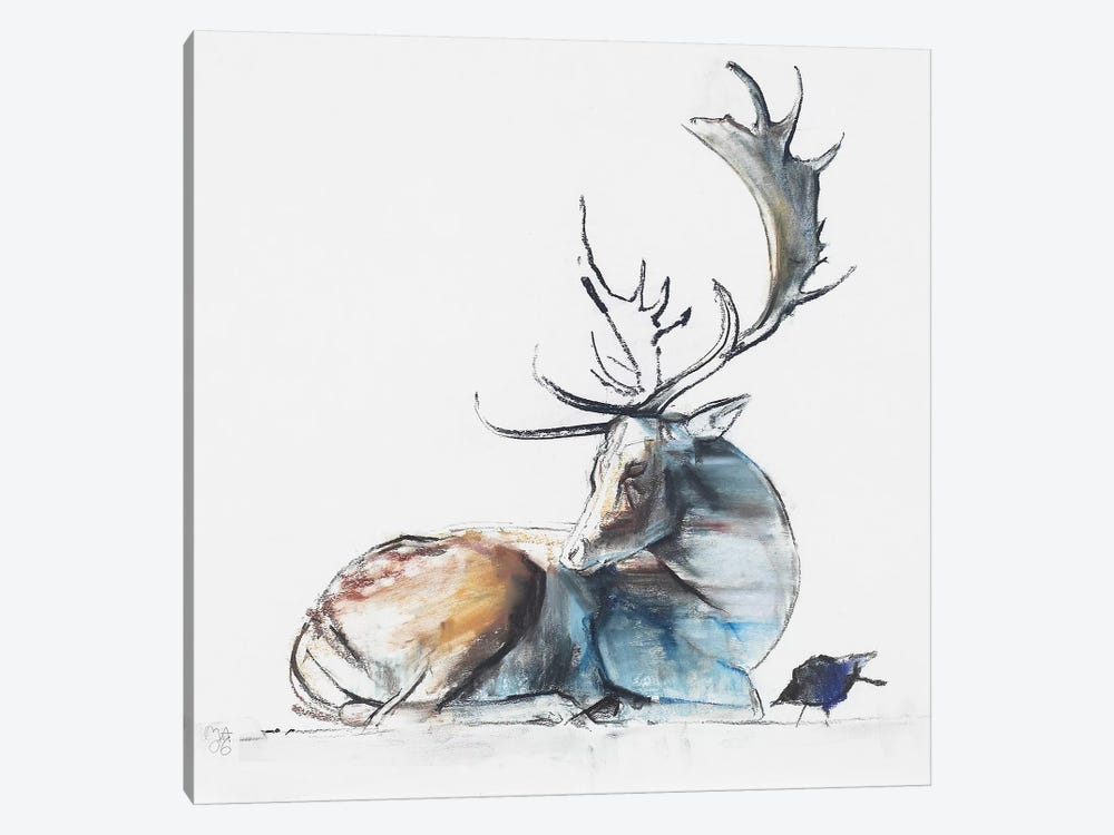 Buck And Bird by Mark Adlington 1-piece Art Print