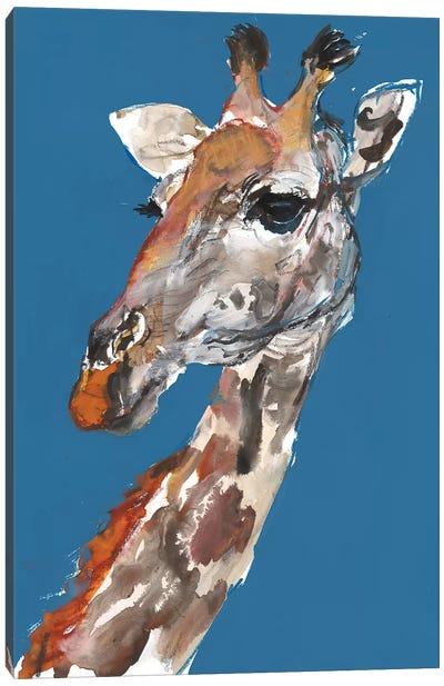 Masai Giraffe Cow Canvas Art Print