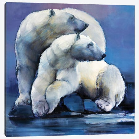 Moon Bears, 2016 Canvas Print #MAD43} by Mark Adlington Canvas Art Print
