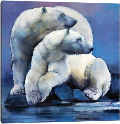 Moon Bears, 2016 Canvas Art Print