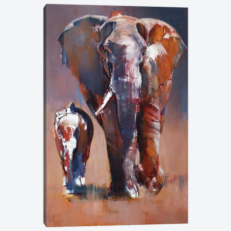Mother and Calf, 2018 Canvas Print #MAD44} by Mark Adlington Canvas Wall Art