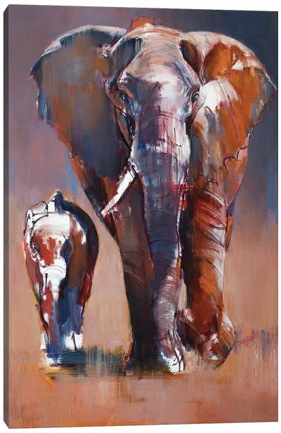 Mother and Calf, 2018 Canvas Art Print