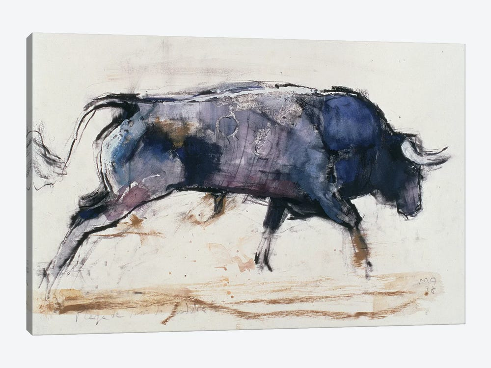 Charging Bull, 1998 by Mark Adlington 1-piece Canvas Art Print