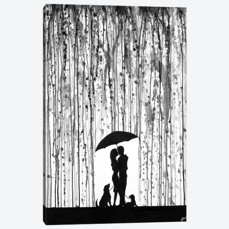 Entwined in Black & White Canvas Print #MAE109} by Marc Allante Canvas Art