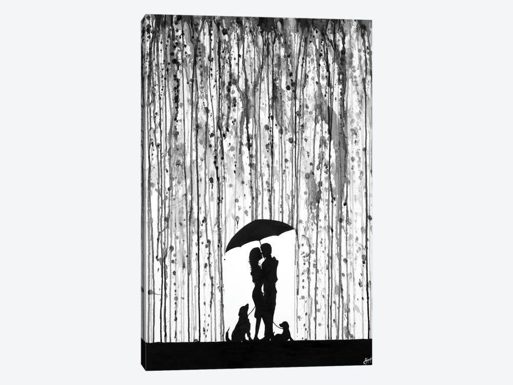 Entwined in Black & White by Marc Allante 1-piece Canvas Wall Art