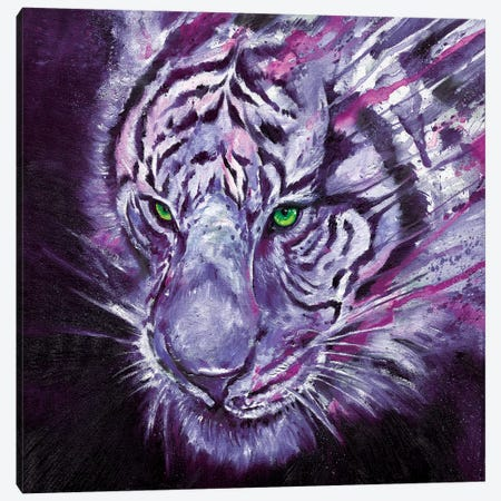 Nightstalker Neon Canvas Print #MAE117} by Marc Allante Canvas Artwork