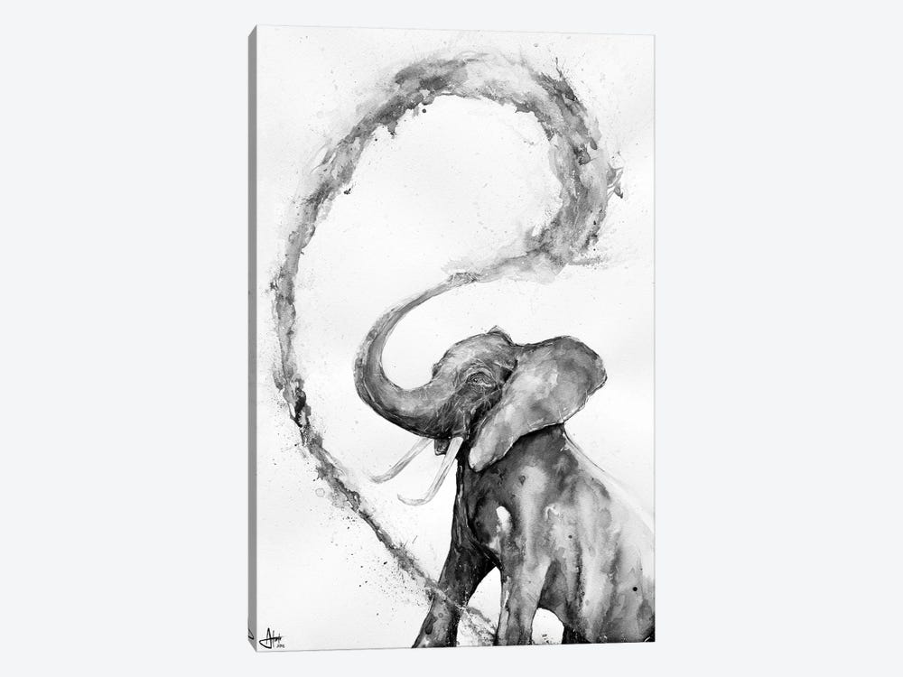 Veris in Black & White by Marc Allante 1-piece Canvas Art