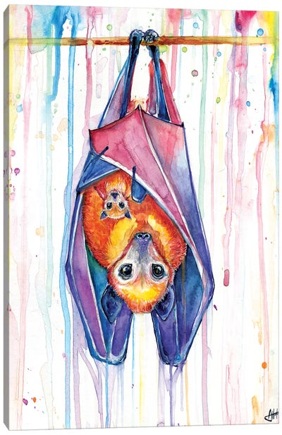 Buncha Bats Canvas Art Print