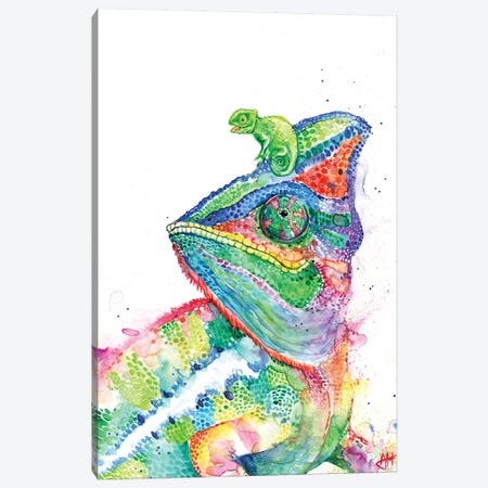 Clutcha' Chameleons 3-Piece Canvas #MAE130} by Marc Allante Canvas Print