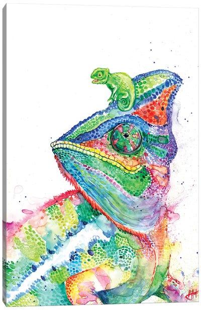 Clutcha' Chameleons Canvas Art Print