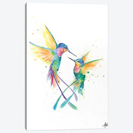 Happy Hummingbirds Canvas Print #MAE137} by Marc Allante Canvas Wall Art