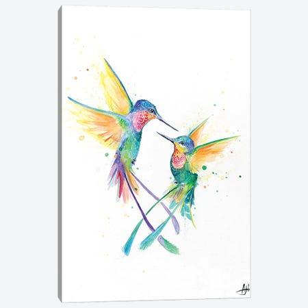 Happy Hummingbirds Canvas Print #MAE137} by Marc Allante Canvas Wall Art