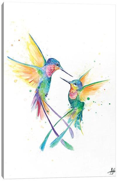 Happy Hummingbirds Canvas Art Print