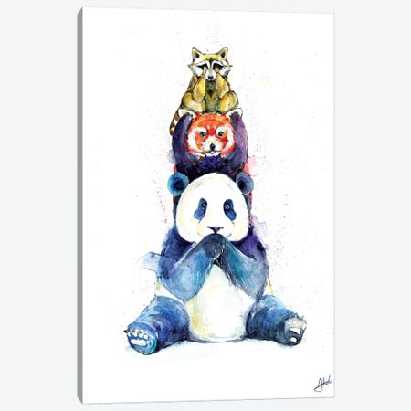 Pandamonium Canvas Print #MAE143} by Marc Allante Canvas Art