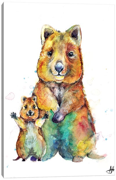 Qwazy Quokkas Canvas Art Print