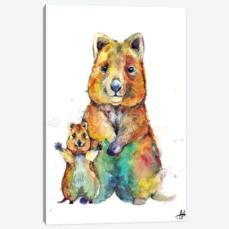 Qwazy Quokkas Canvas Print #MAE145} by Marc Allante Canvas Print