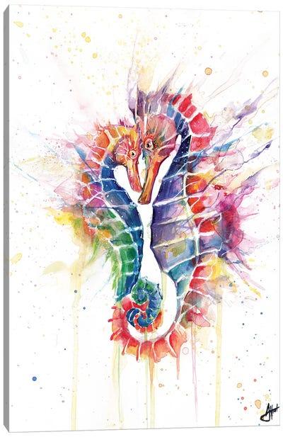 Sanguine Seahorses Canvas Art Print