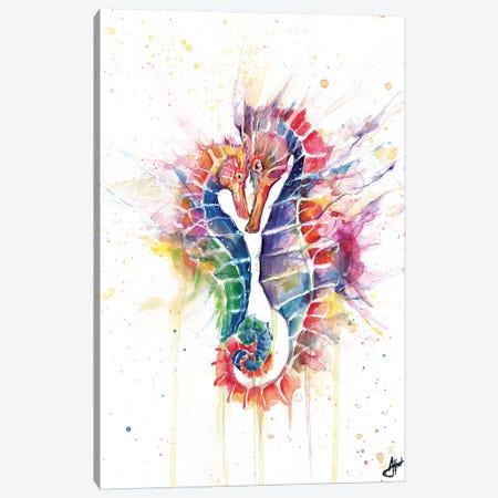 Sanguine Seahorses Canvas Print #MAE146} by Marc Allante Art Print