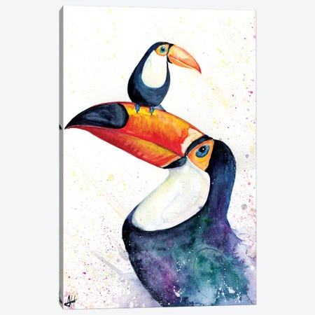Toucan Play that Game Canvas Print #MAE149} by Marc Allante Canvas Art