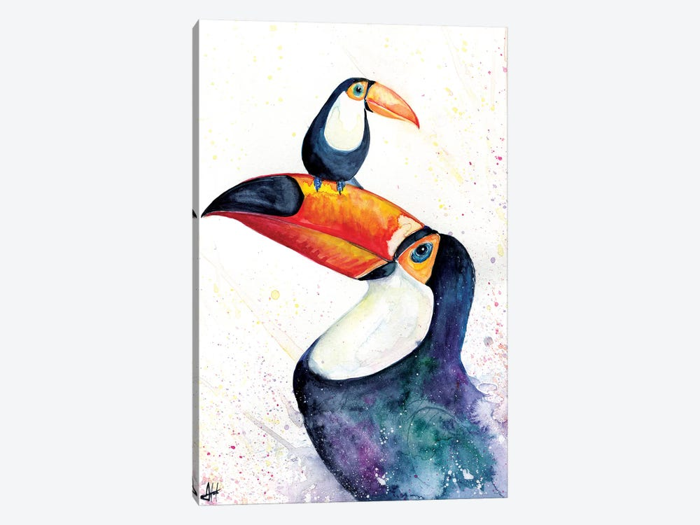 Toucan Play that Game 1-piece Canvas Wall Art