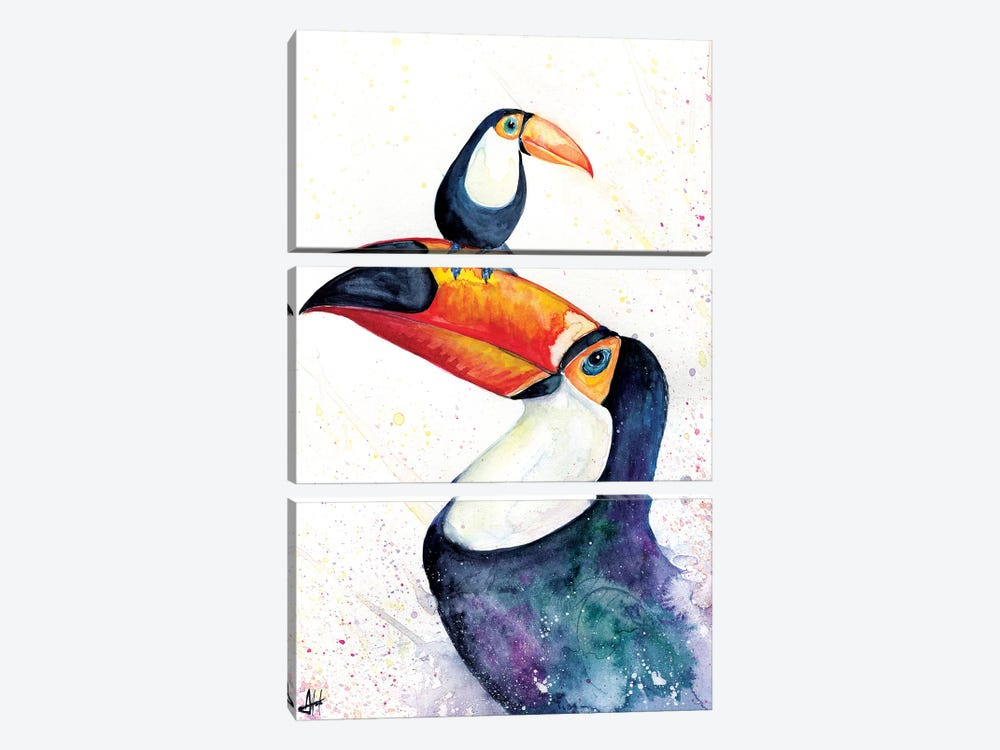 Toucan Play that Game by Marc Allante 3-piece Canvas Wall Art