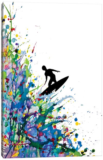A Pollock's Point Break by Marc Allante Canvas Artwork