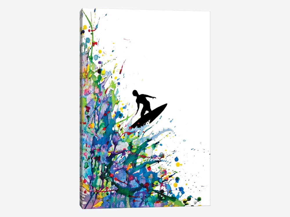 A Pollock's Point Break by Marc Allante 1-piece Canvas Art Print