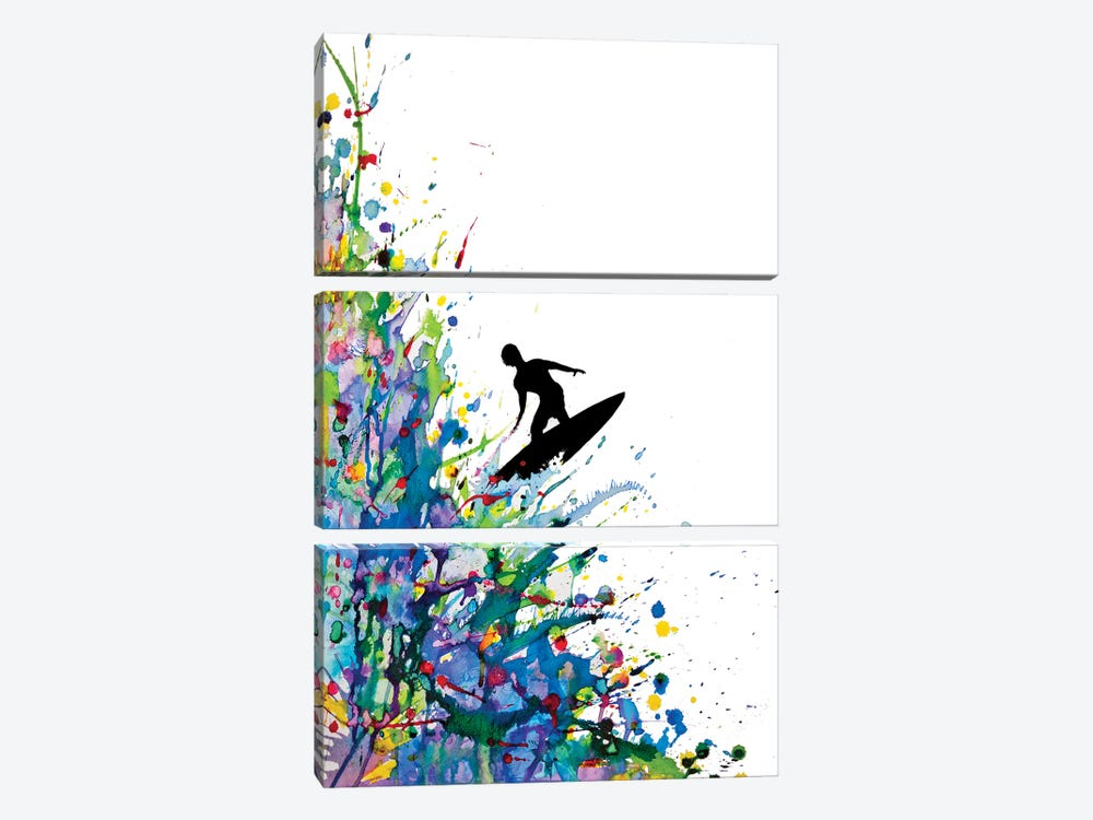 A Pollock's Point Break by Marc Allante 3-piece Canvas Art Print