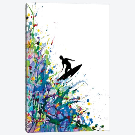 A Pollock's Point Break Canvas Print #MAE1} by Marc Allante Canvas Artwork