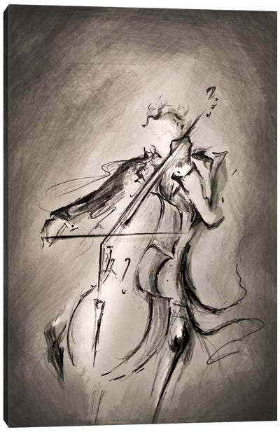 The Cellist by Marc Allante Canvas Wall Art