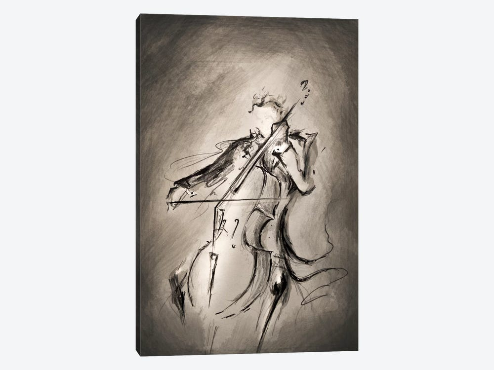 The Cellist by Marc Allante 1-piece Art Print