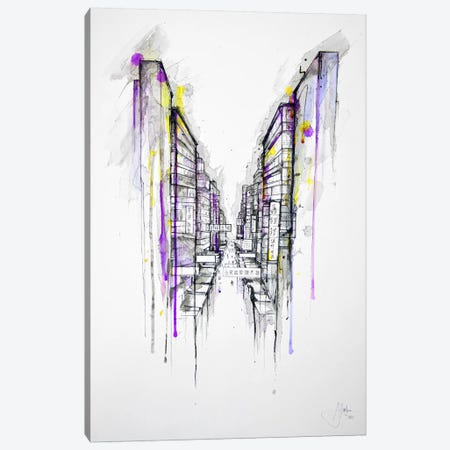 This City Sleeps Canvas Print #MAE29} by Marc Allante Canvas Artwork