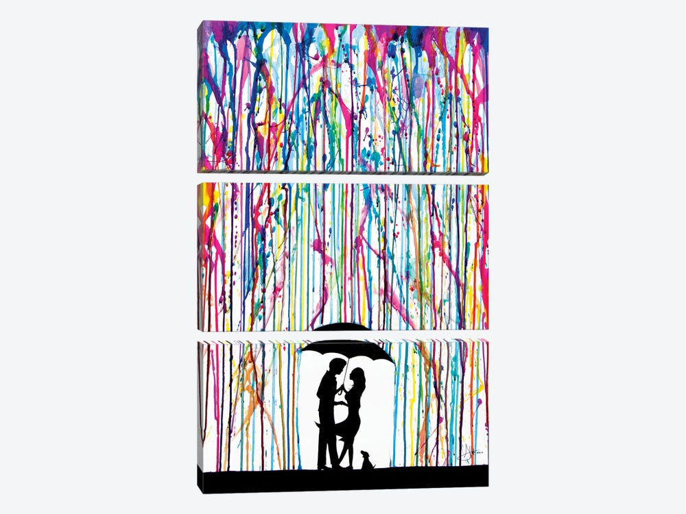 Two Step by Marc Allante 3-piece Canvas Artwork