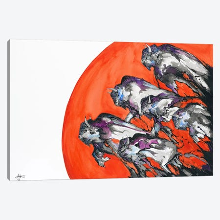 Out of a Rising Sun Canvas Print #MAE40} by Marc Allante Canvas Artwork