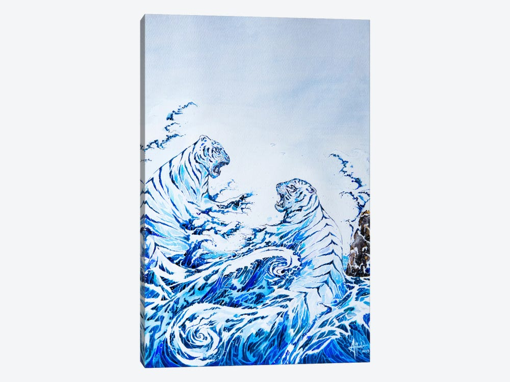 The Crashing Waves by Marc Allante 1-piece Canvas Print