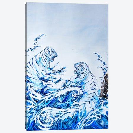 The Crashing Waves Canvas Print #MAE42} by Marc Allante Canvas Wall Art