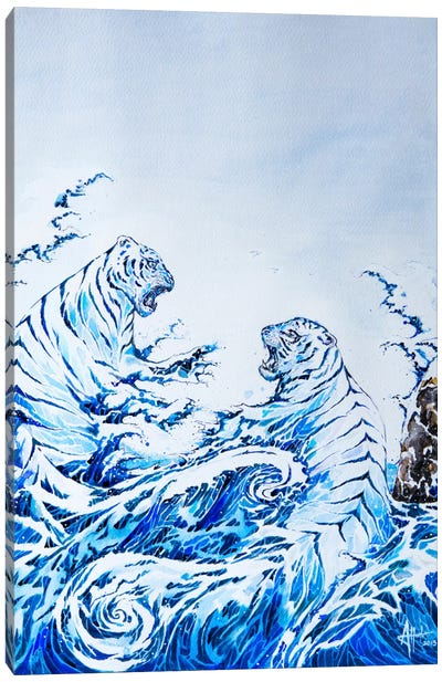 The Crashing Waves Canvas Art Print