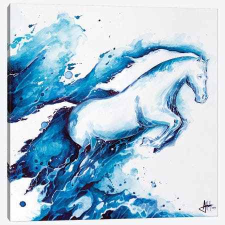 Ride The Lightning Canvas Print #MAE52} by Marc Allante Canvas Art Print