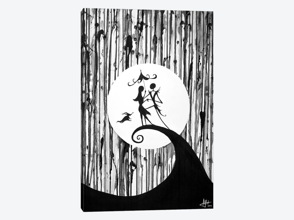 Something In The Air in B&W by Marc Allante 1-piece Canvas Artwork
