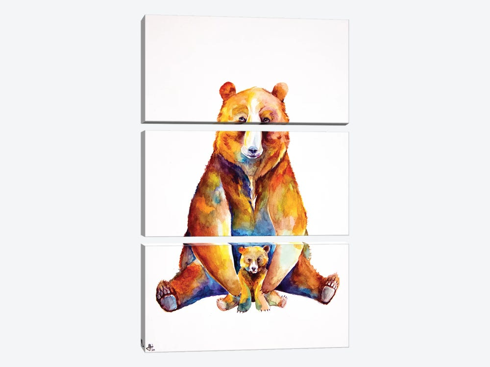 Bear Necessities 3-piece Canvas Print