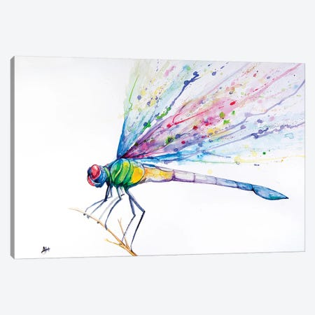Dragonfly 3-Piece Canvas #MAE92} by Marc Allante Canvas Art Print