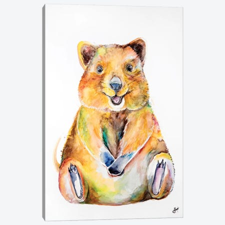 Quokka Canvas Print #MAE96} by Marc Allante Canvas Art