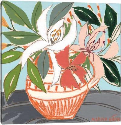 April Florals IX Canvas Art Print
