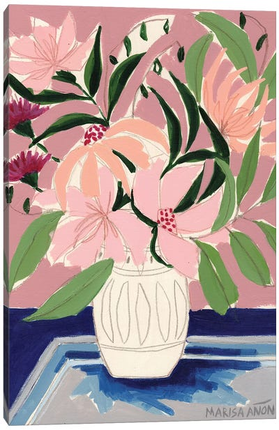 Flowers from Sagra            Canvas Art Print