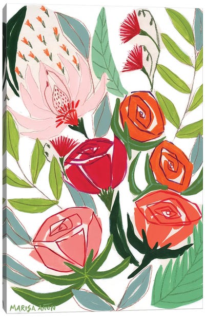Flowers from Sellent          Canvas Art Print