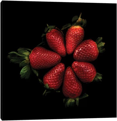 Shiny Strawberries Canvas Print #MAG66