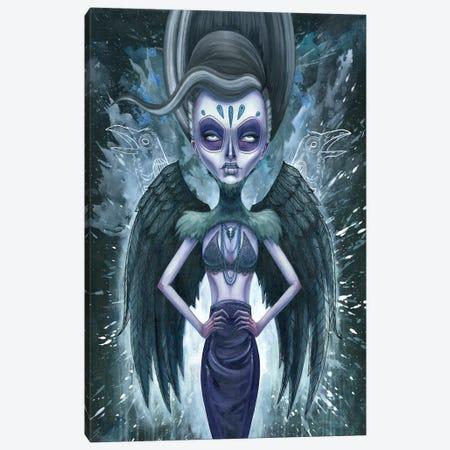 Black Raveness Canvas Print #MAJ11} by Megan Majewski Canvas Art