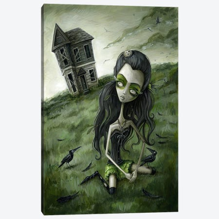 Abandoned In The Field Of Crows Canvas Print #MAJ1} by Megan Majewski Art Print