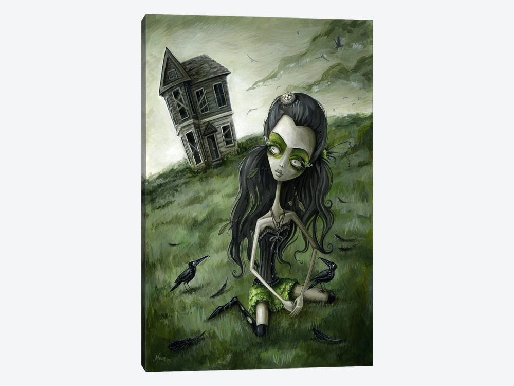 Abandoned In The Field Of Crows by Megan Majewski 1-piece Canvas Art