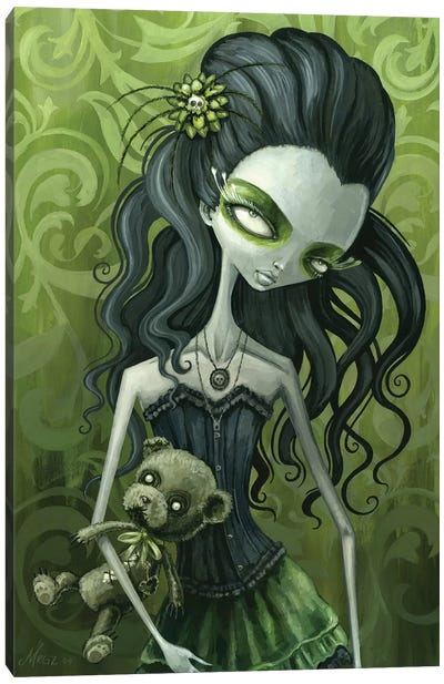 Emma Emerald Canvas Art Print